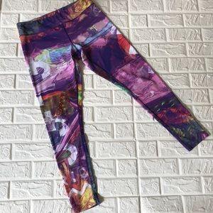 Reebok colorful workout leggings